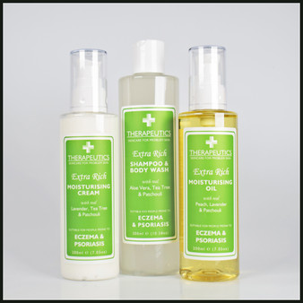 Skincare Kit suitable for people prone to dry or sensitive skin from Eczema & Psoriasis