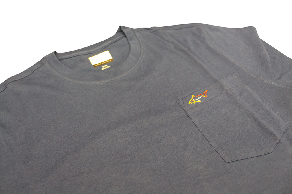 Chest Pocket Cotton Shark T-Shirt detail logo product shot
