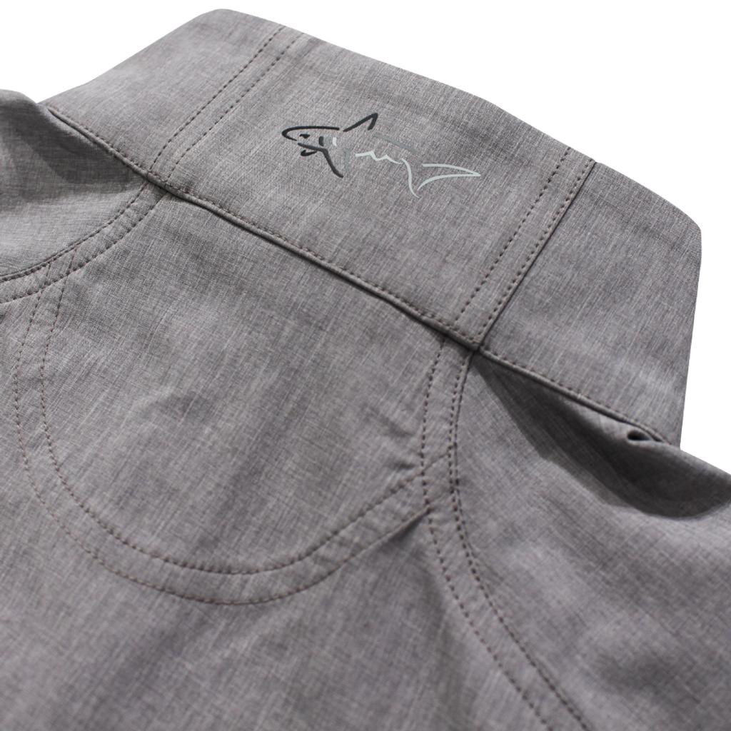 Full Zip Windbreaker Stretch Jacket logo detail