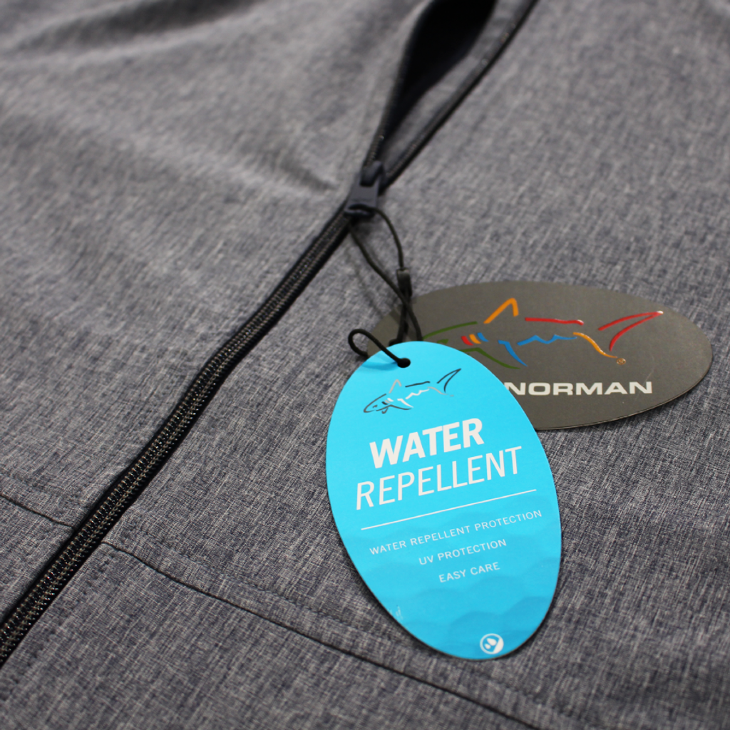 Full-Zip Windbreaker Stretch Jacket detail hangtag shot