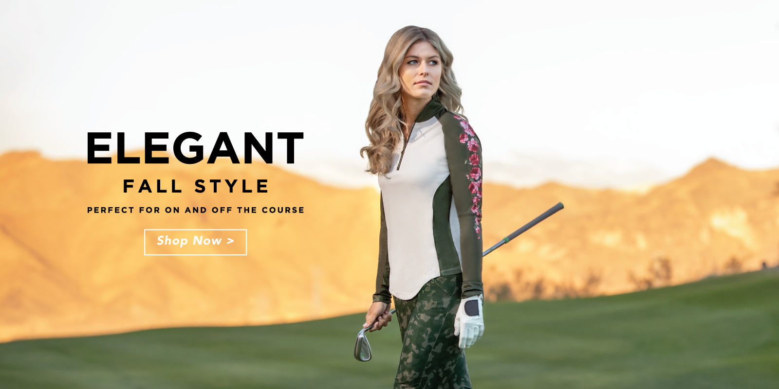 Elegant Fall style perfect for on and off the course shop now