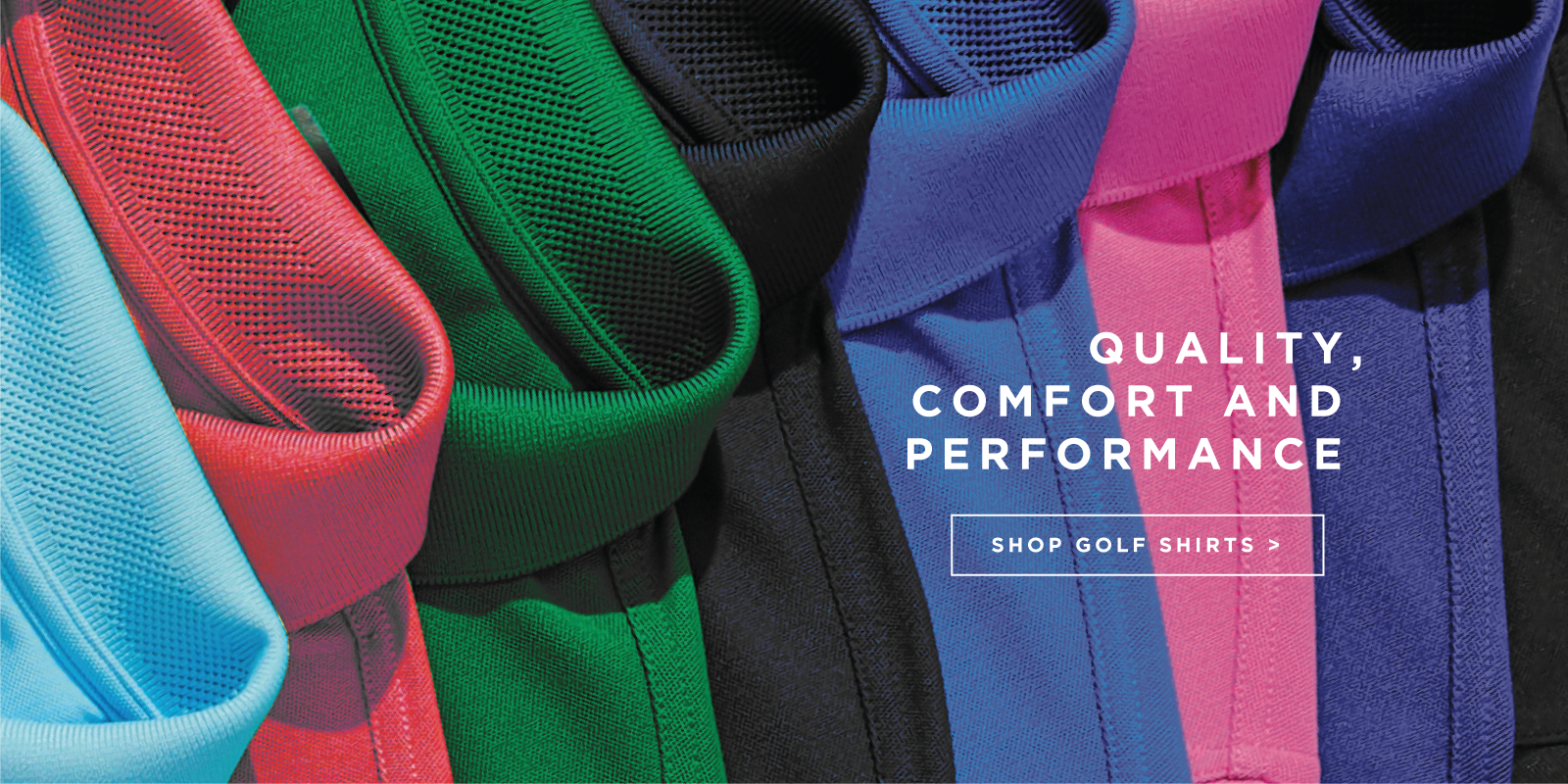 Quality, comfort and performance shop golf shirts