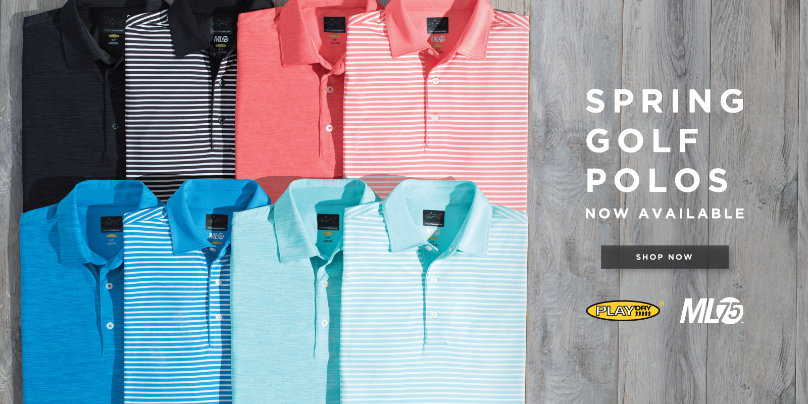 Spring golf polos now available shop now