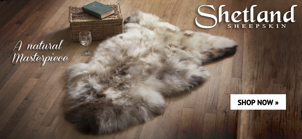 Shetland sheepskin natural rugs