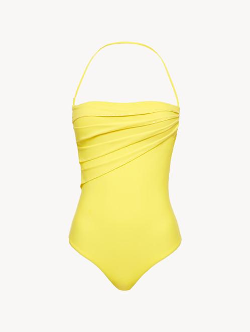 Badeanzug mit Bügeln in Gelb
