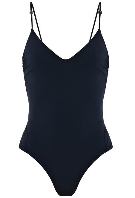 Badeanzug mit Bügeln in Nachtblau