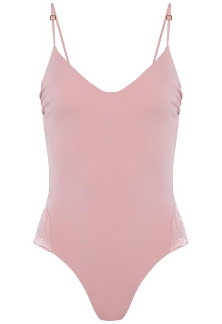 Badeanzug mit Bügeln in Rosa