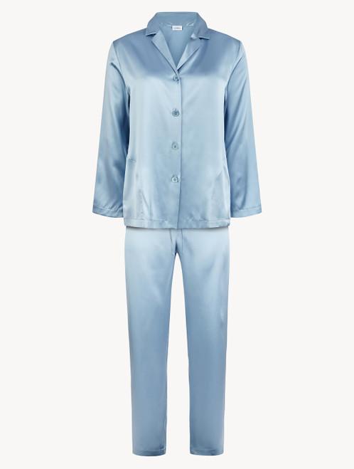 Pyjama in Violett aus Seide