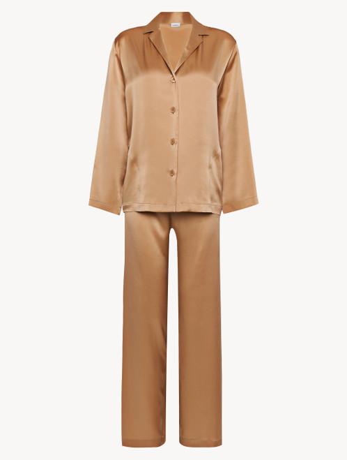 Pyjama in Karamell aus Seide