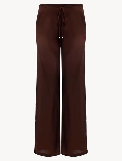 Hose aus Seide in Braun