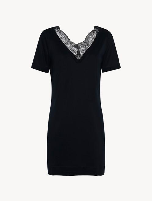 Kurzes Nachthemd in Schwarz aus Modaljersey