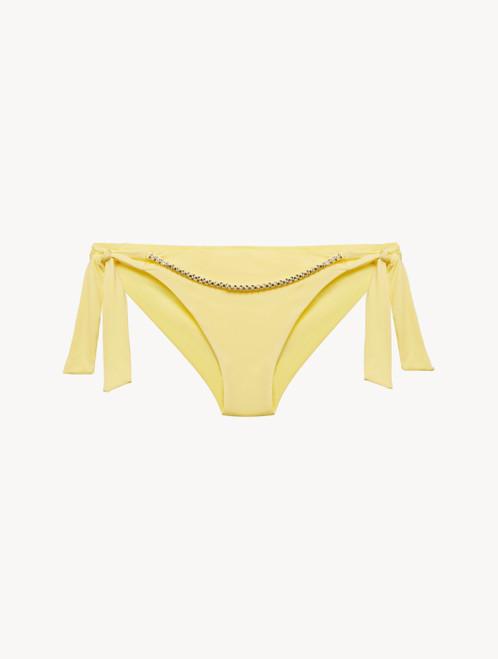 Bikinislip mit Bändchen in Gelb
