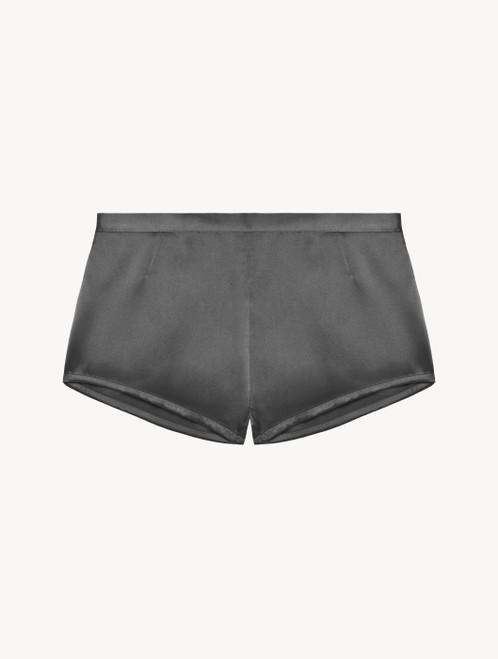 Pyjama-Shorts aus Seide in Silber