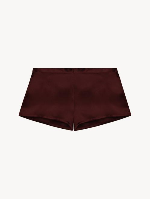 Pyjama-Shorts aus Seide in Bordeaux