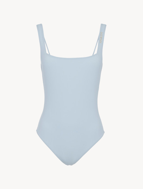Badeanzug ohne Bügel in Eisblau