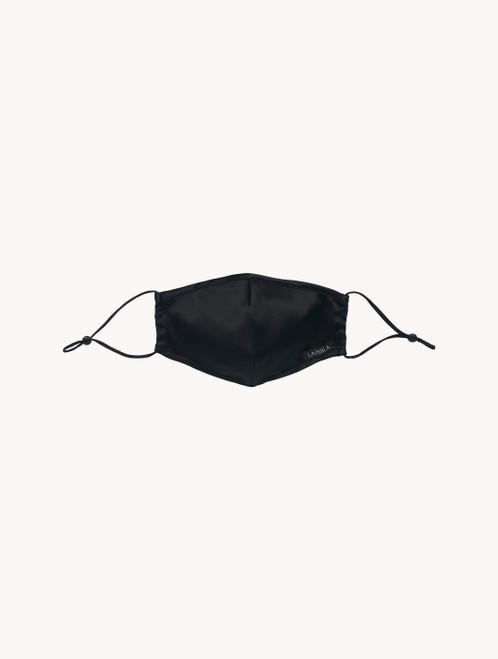 Maske in Schwarz aus Seide