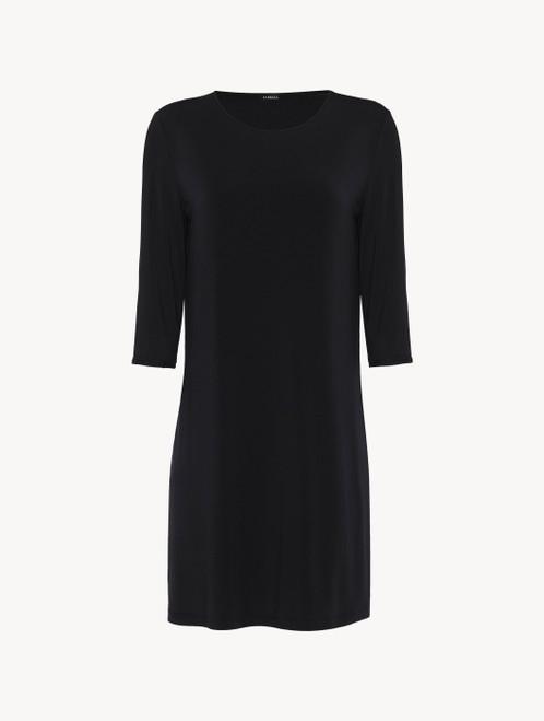 Nachthemd in Schwarz aus Jersey in Seide und Modal