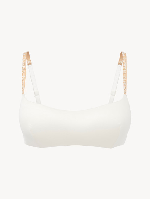 Brassière aus Rayon in Offwhite