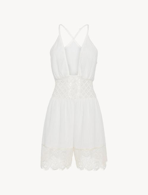 Kurzes Jumpsuit aus Baumwolle in Weiß