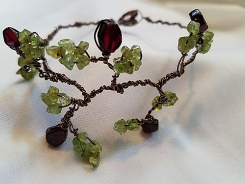 Wrapped Copper Wire Tree Branch Bracelet
