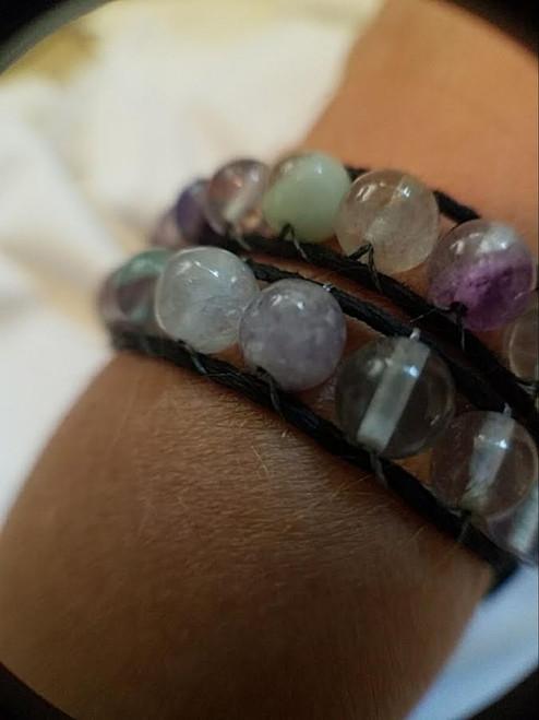 Woven Flourite Wrap Bracelet