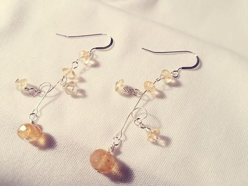 Citrine Jazzy Earrings