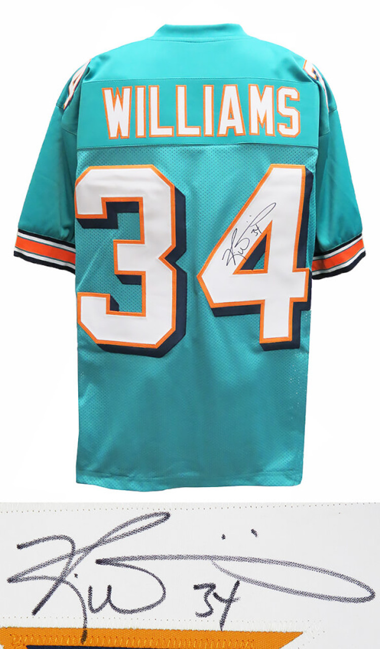 Miami Dolphins Ricky Williams Signed Teal Jersey - Schwartz Authentic
