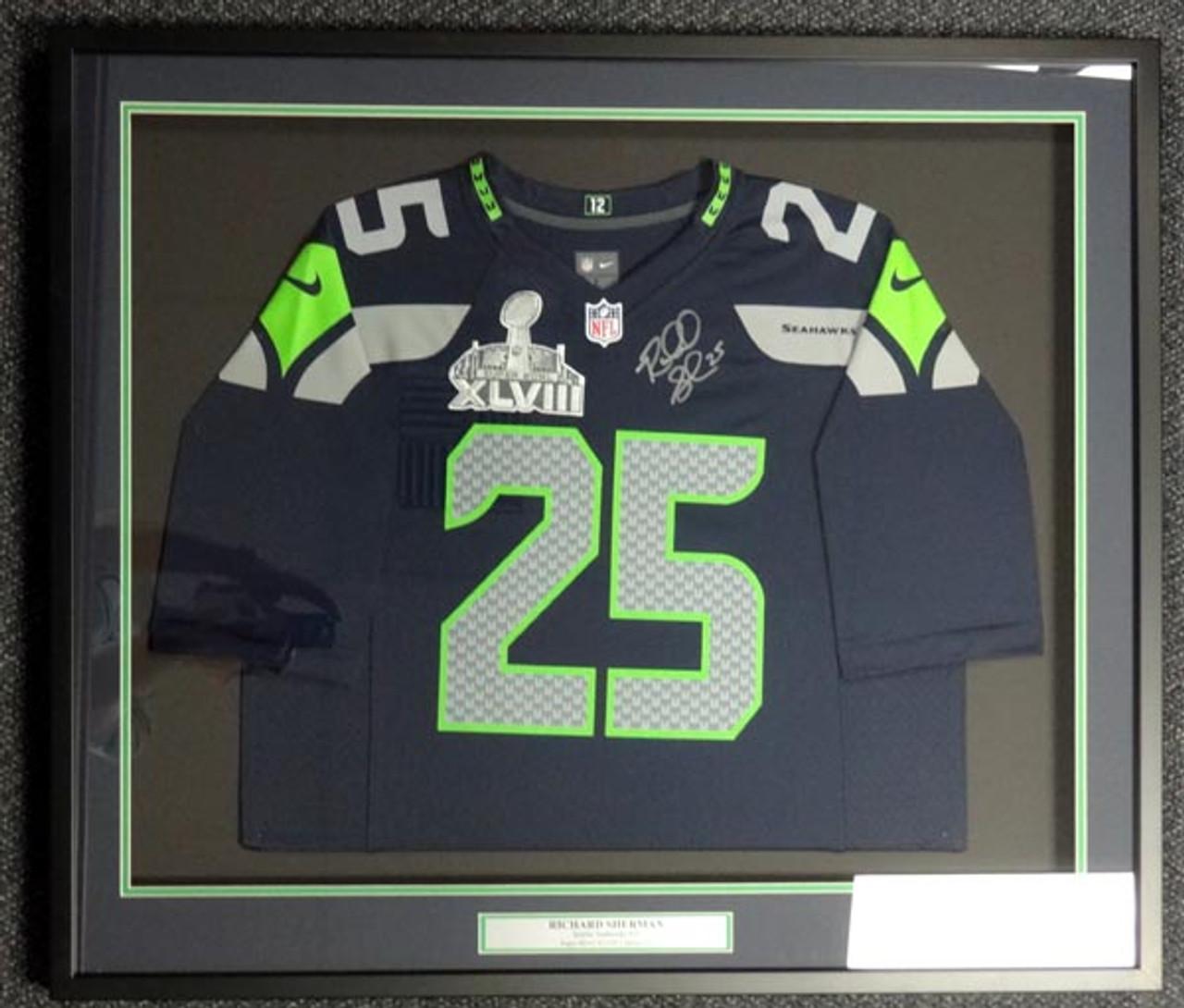 Richard Sherman Autographed Framed Jersey Seattle Seahawks