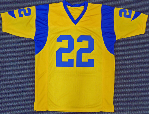 quality design 6828e 74df2 Los Angeles Rams Marcus Peters Autographed Yellow Jersey Beckett BAS