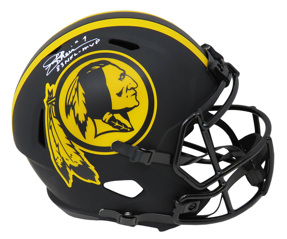 Authentic Autographed Joe Theismann Washington Mini Helmet W// 83 MVP ~ JSA Auth *White