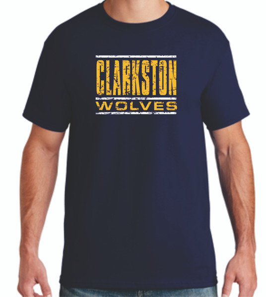 Clarkston Wolves Distressed T Shirts