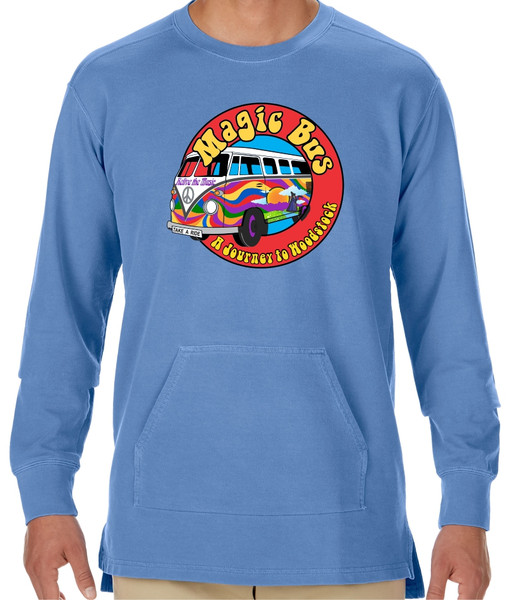 Magic Bus Blue Crew Neck Sweatshirt