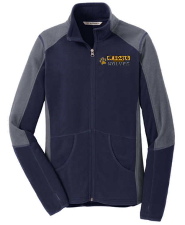 Clarkston Port Authority Ladies Colorblock Microfleece Jacket