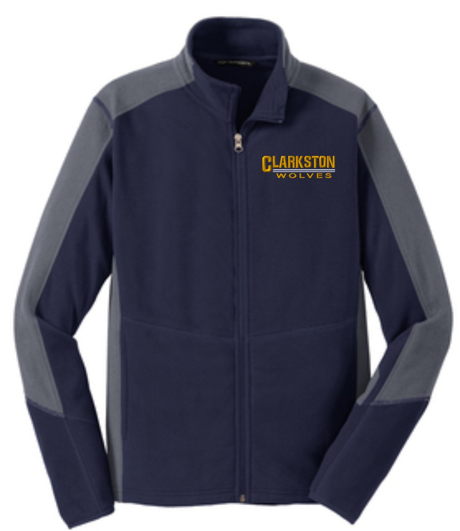 Clarkston Port Authority Men's Colorblock Microfleece Jacket