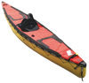 North Water Solo Canoe Spraydeck on Caribou S - Red **This spray deck has an additional cargo hatch installed.  Extra fees apply.