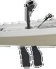 Mirage Lynx 11.0 - Ivory Dune - Papaya Orange    Western Canoeing & Kayaking