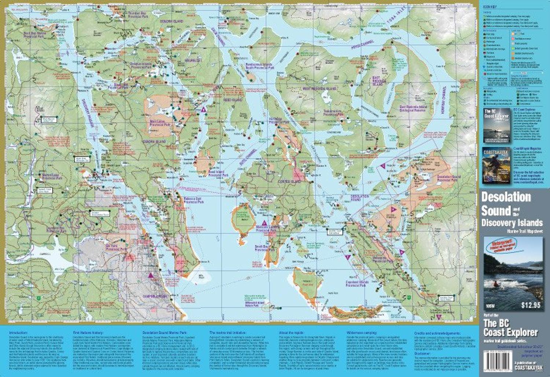 Discovery Islands & Desolation Sound Waterproof Map