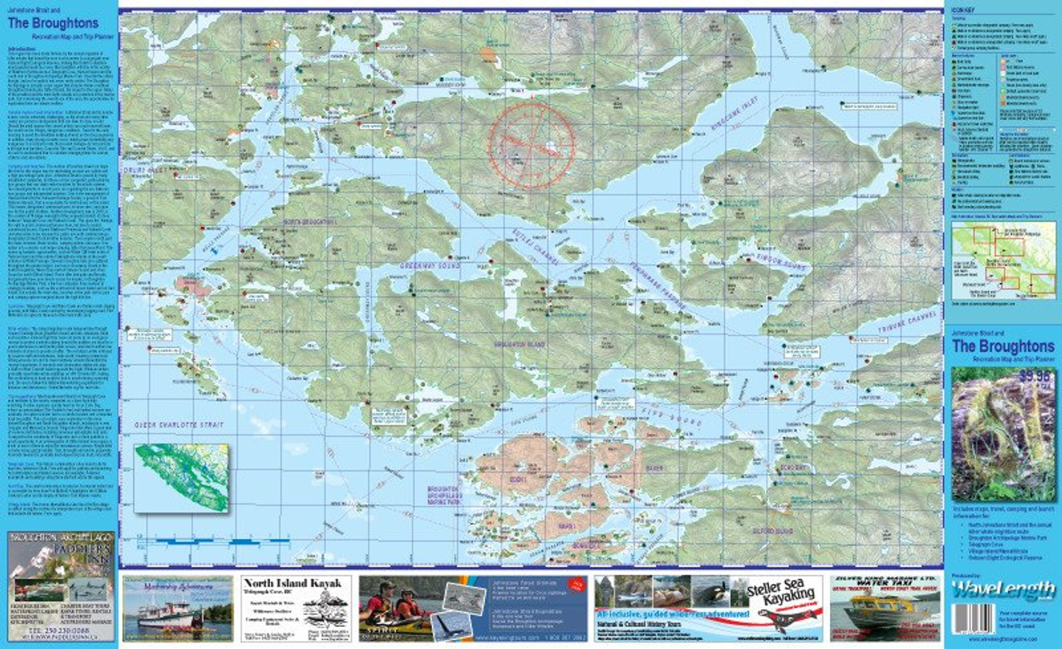 Broughton/Johnstone Strait Map by Coast & Kayak