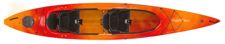 Wilderness Systems Pamlico 145T Tandem Recreational Kayak - Mango