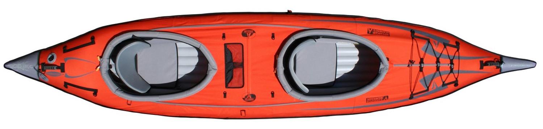 Double Deck Conversion on Advanced Frame Convertible Kayak