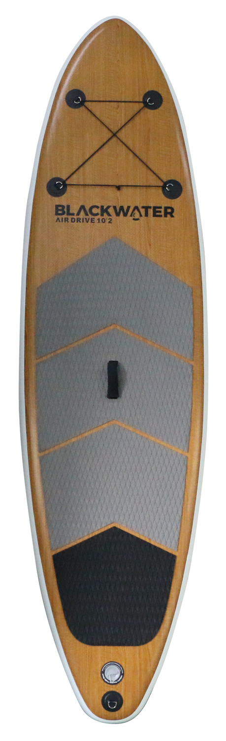 Air Drive Wood 10'2 - Front with Lash - 2021   Western Canoe and Kayak