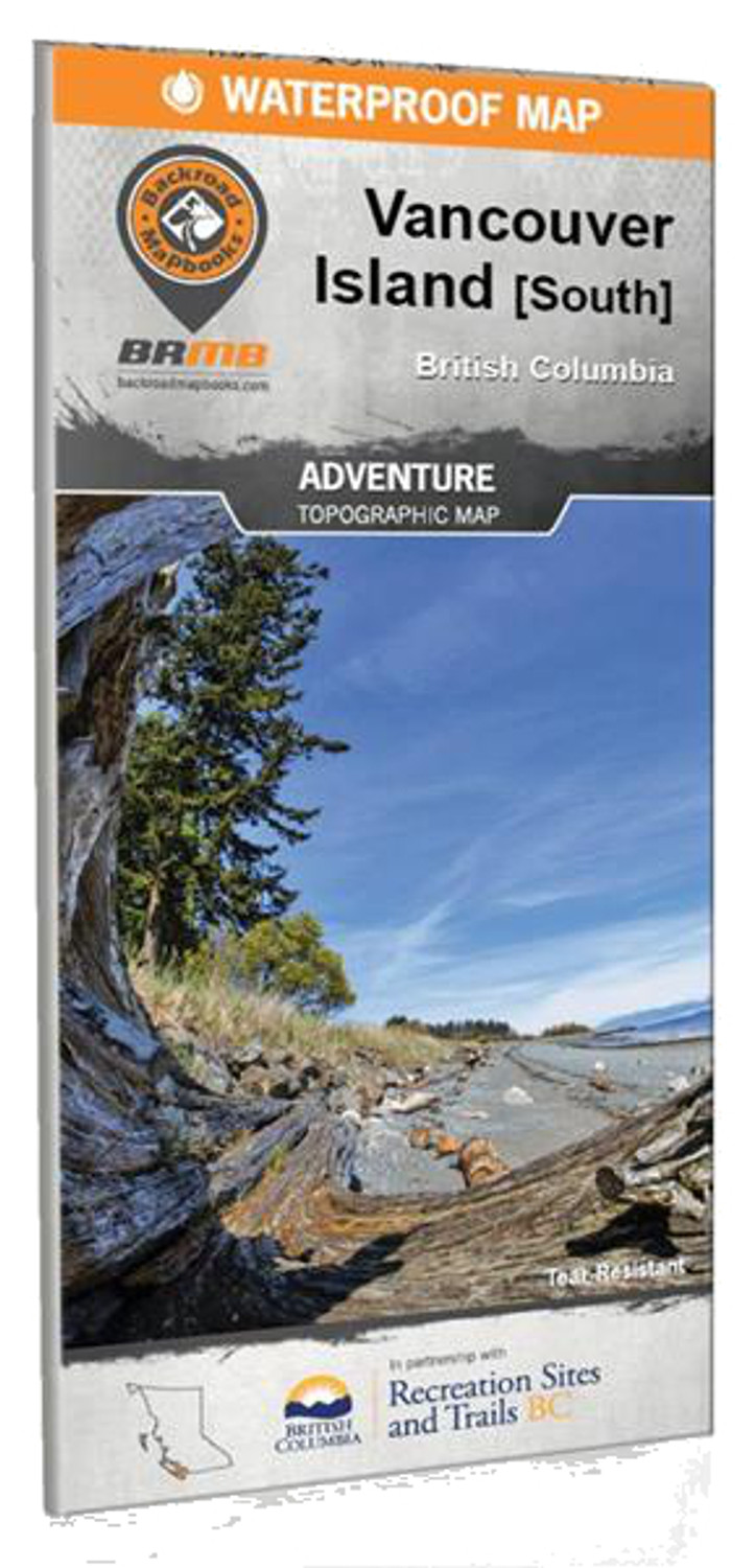Vancouver Island BC South Waterproof Map