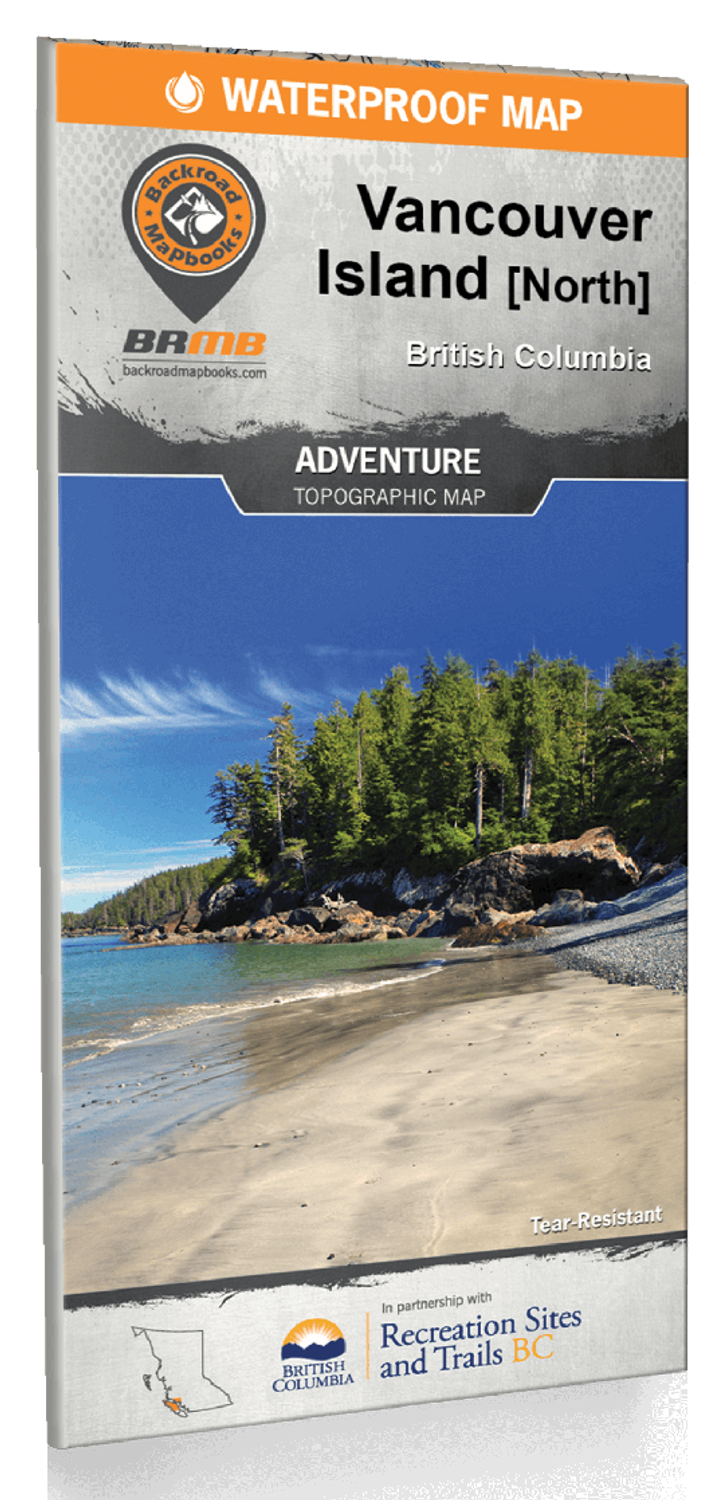 Vancouver Island BC North Waterproof Map