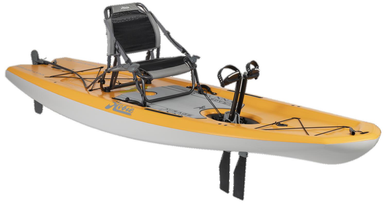 Mirage Lynx 11.0 - Papaya Orange - Angle   Western Canoeing & Kayaking