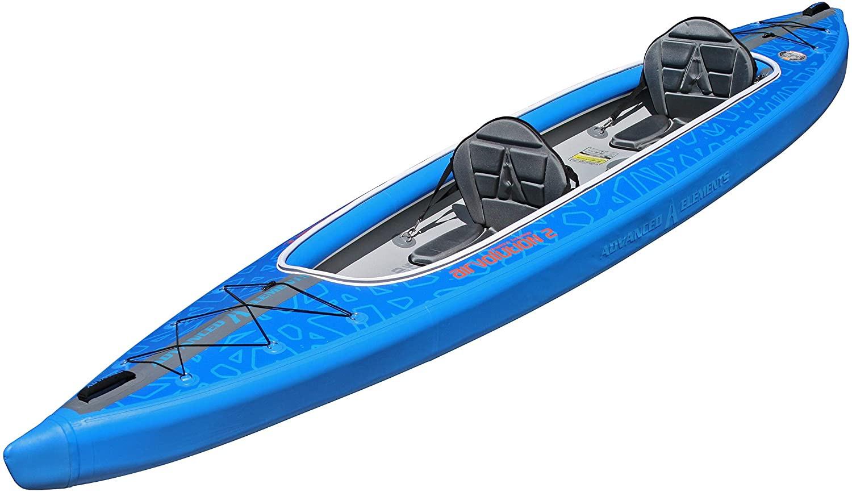 Airvolution Tandem Kayak - Angle | Western Canoeing and Kayaking