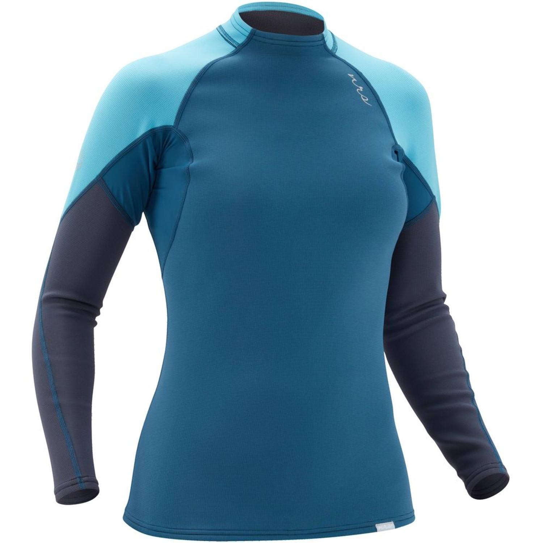Women's HydroSkin 0.5 Long-Sleeve Shirt - Poseidon - Angle   Western Canoeing & Kayaking