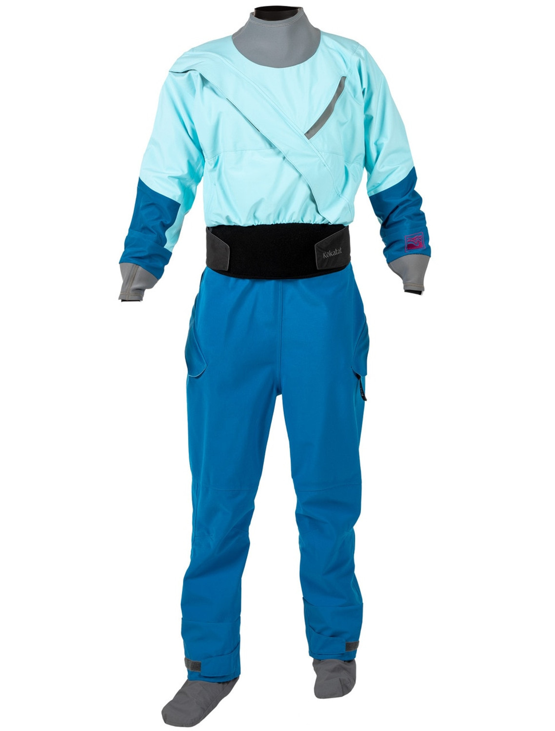 Women's Meridian Gore-Tex PRO Dry Suit w/Dropseat - Ice - Front   Western Canoeing & Kayaking
