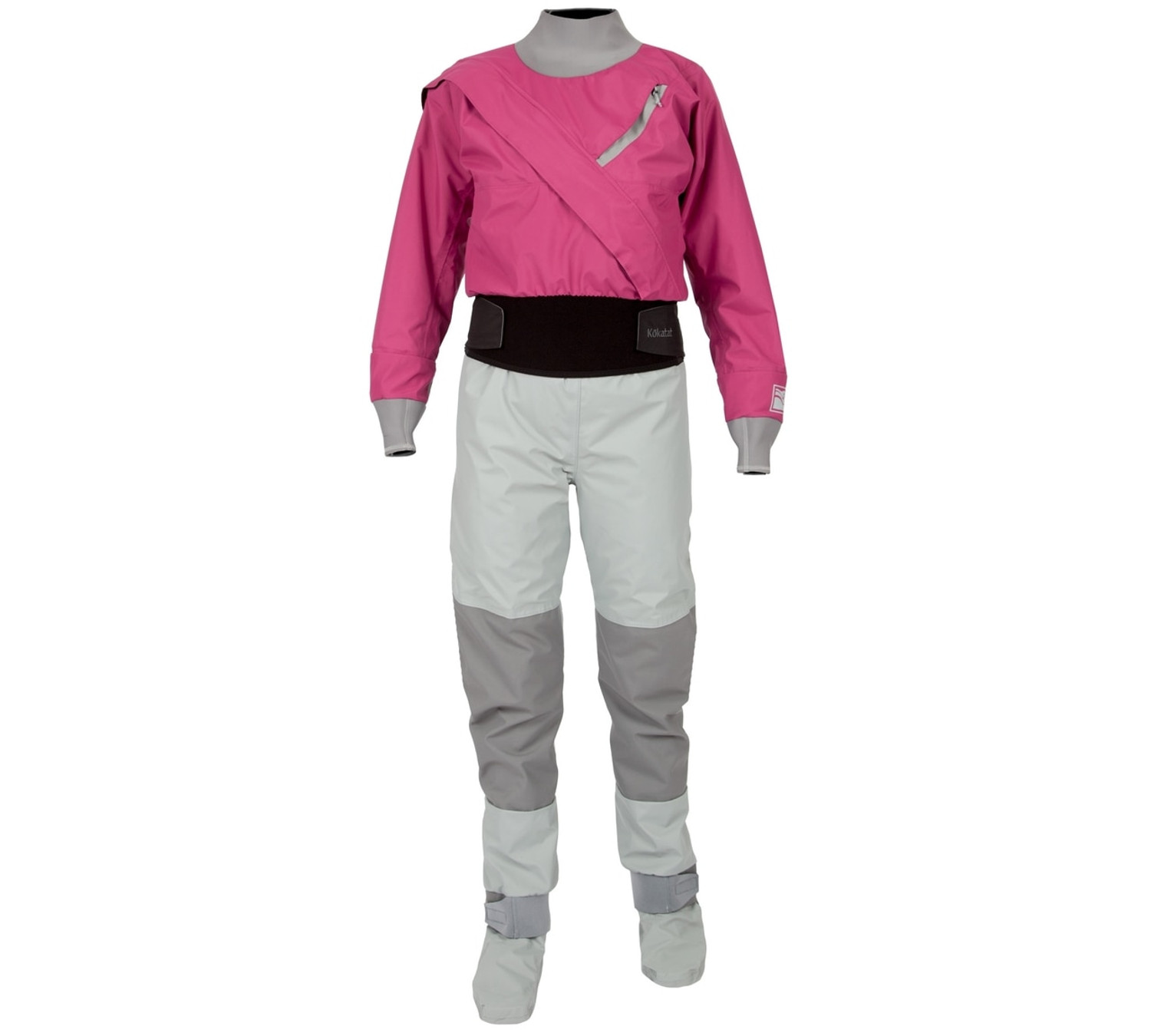 Women's Meridian Hydrus 3.0 Dry Suit w/Dropseat - Berry - Front   Western Canoeing & Kayaking