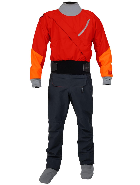 Men's Meridian Gore-Tex PRO Dry Suit w/Relief Zipper - Red - Front | Western Canoeing & Kayaking