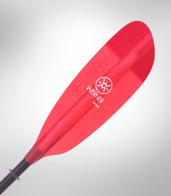 Camano 2pc - Translucent Red - Blade | Western Canoeing & Kayaking